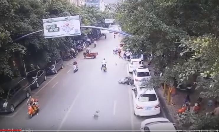 Гусь сбил мотоциклистку в Ки…