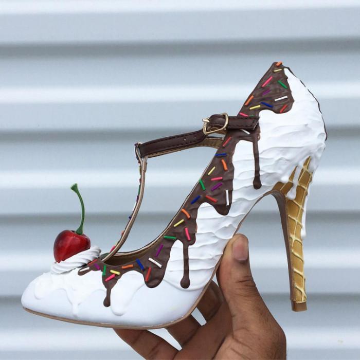 Дизайнер делает обувь в виде…