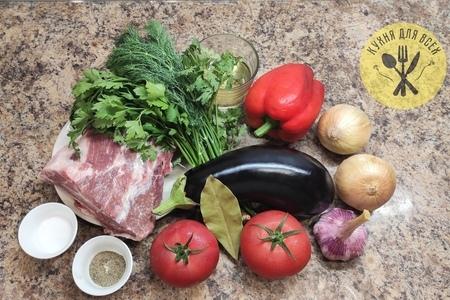 Свиная шея в духовке с овощами: фото шаг 1