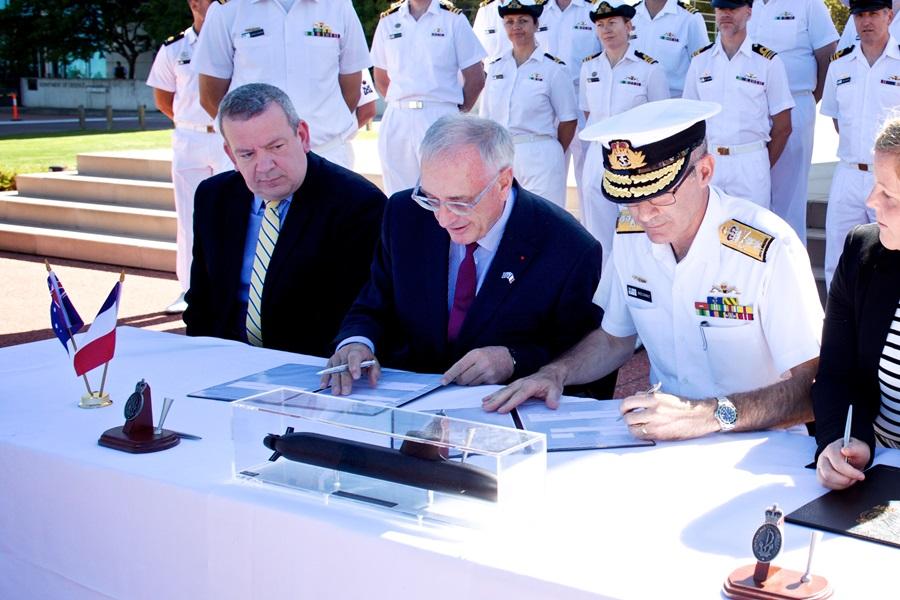 Австралия подписала формальное соглашение о постройке 12 подводных лодок французского проекта