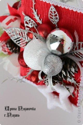 Мастер-класс Свит-дизайн Новый год Бумагопластика Моделирование конструирование Рафаэлкин Домик и Птичий цветок фото 14