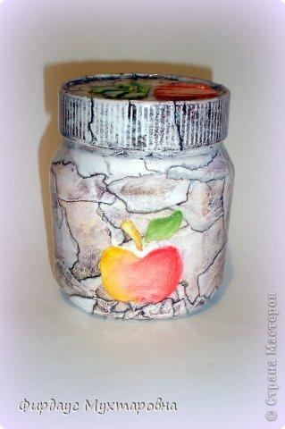 Декор предметов, Мастер-класс Декупаж: Каменные баночки. Имитация. Банки стеклянные, Бумага журнальная. Фото 24