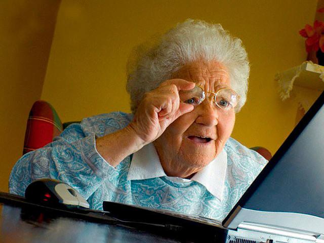 У нас беда. Бабуля освоила скайп