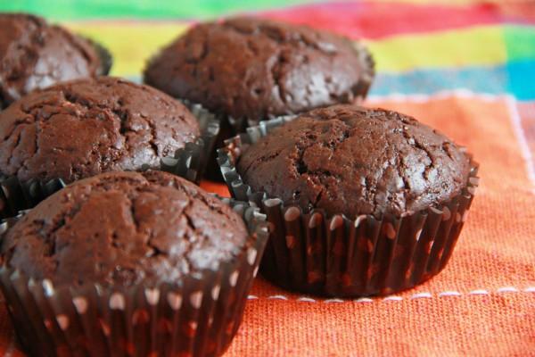 Шоколадные кексы с какао