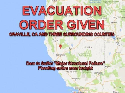 Дамба Оровилл разрушена. Калифорния перед лицом катастрофы. Объявлена всеобщая эвакуация.