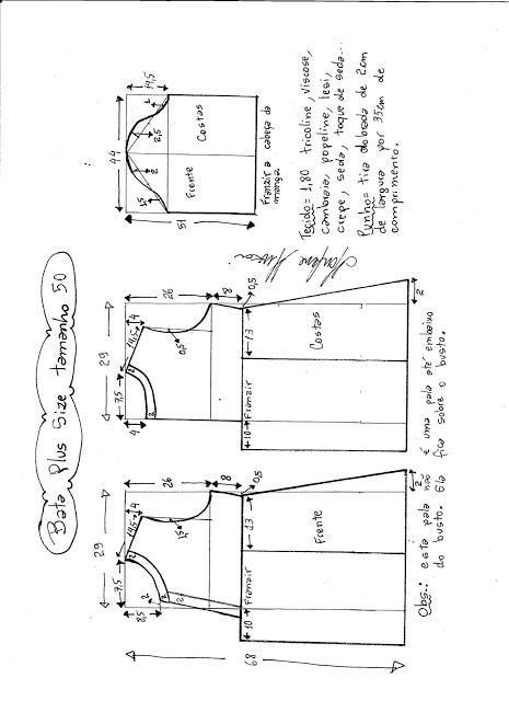 Шьём блузу (размеры от 46 до 62)