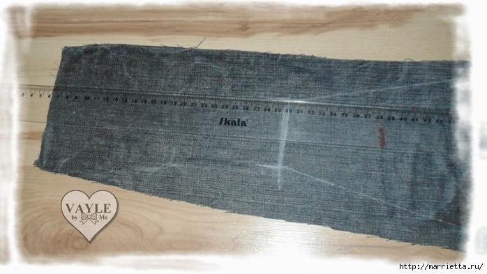 Как сшить жилет из старых джинсов (14) (700x393, 208Kb)