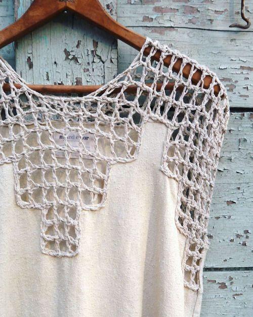 одежда с вязанием крючком