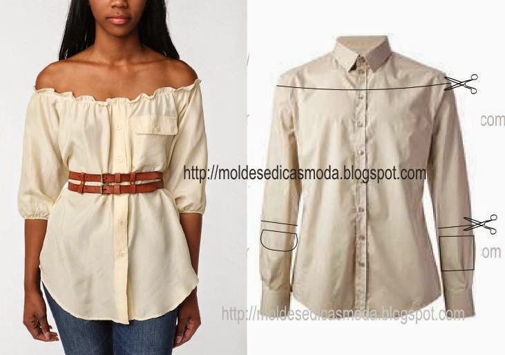 Своими руками блузка из мужской рубашки