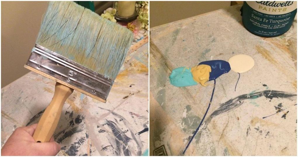 Самый простой способ покраски старой мебели! Понадобится очень широкая кисть