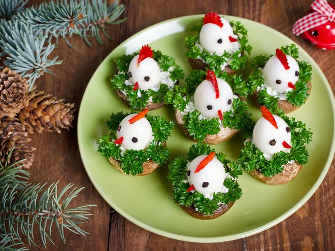 Рецепты в виде петуха: нарядные блюда на Новый год 2017