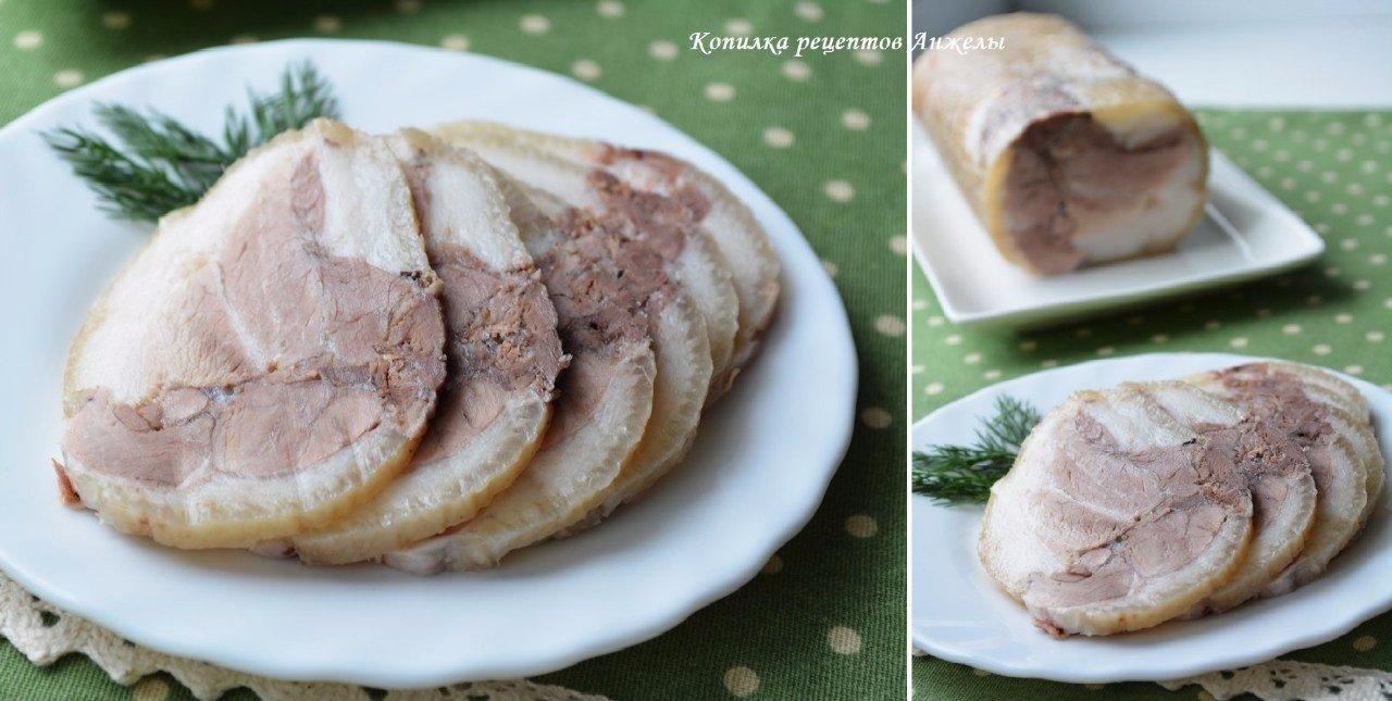 Рулет из свиной рульки. Отличная альтернатива колбасе и ветчине!