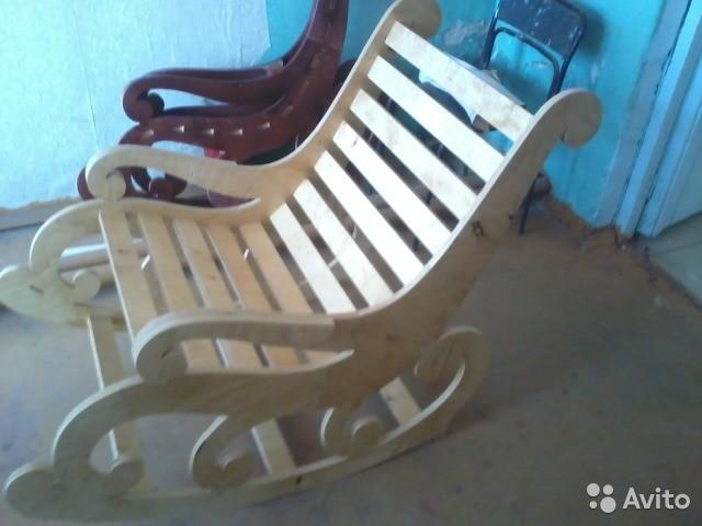 Кресла-качалки из фанеры