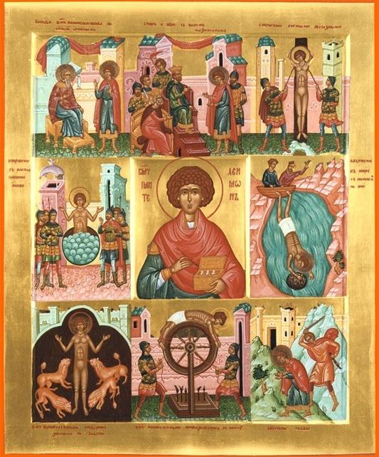 Великомученик и целитель Пантелеимон - день памяти 09 августа н.ст. (27 июля ст.ст.)