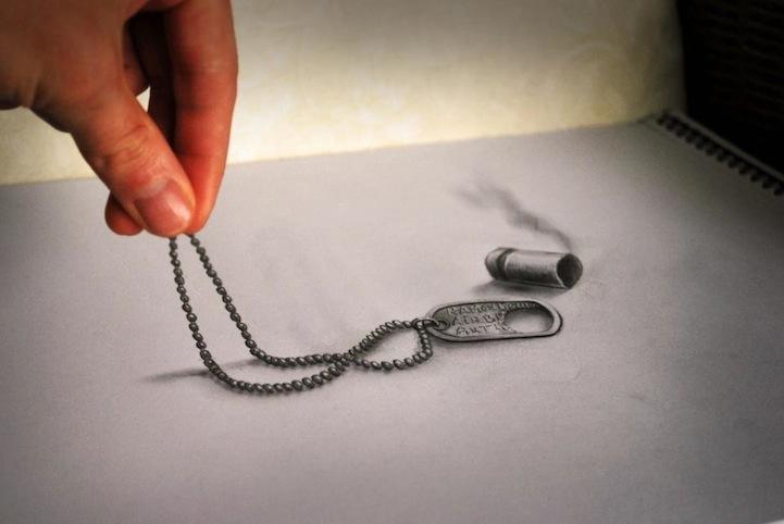 Трехмерные рисунки, сделанные карандашом