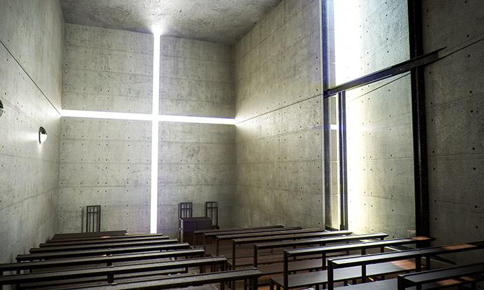 Необычный интерьер церкви 'Храм Света'