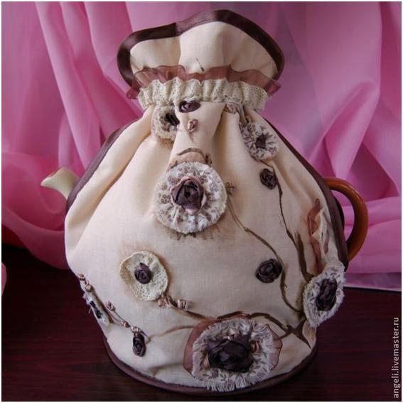 Мешочек-хранительница для заварочного чайника. Шьем сами