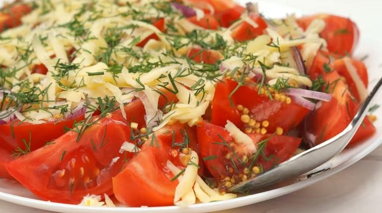 Салат с помидорами «Гости на…
