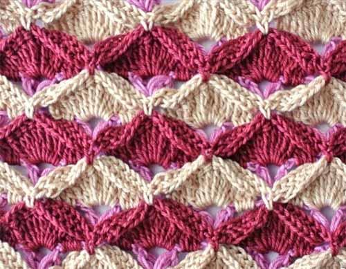 двухцветный узор для вязания крючком