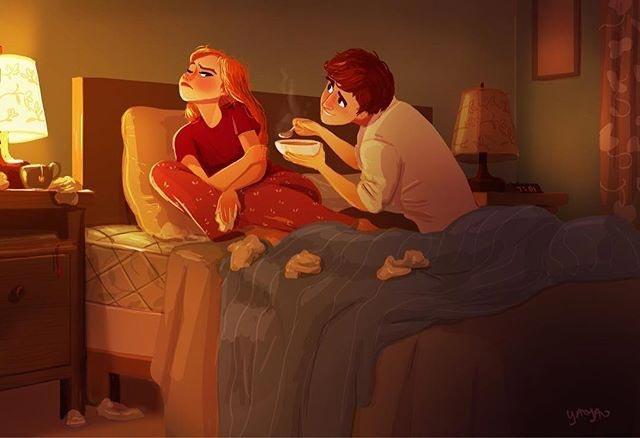 Яояо Ма Ван Ас рисунки о любви