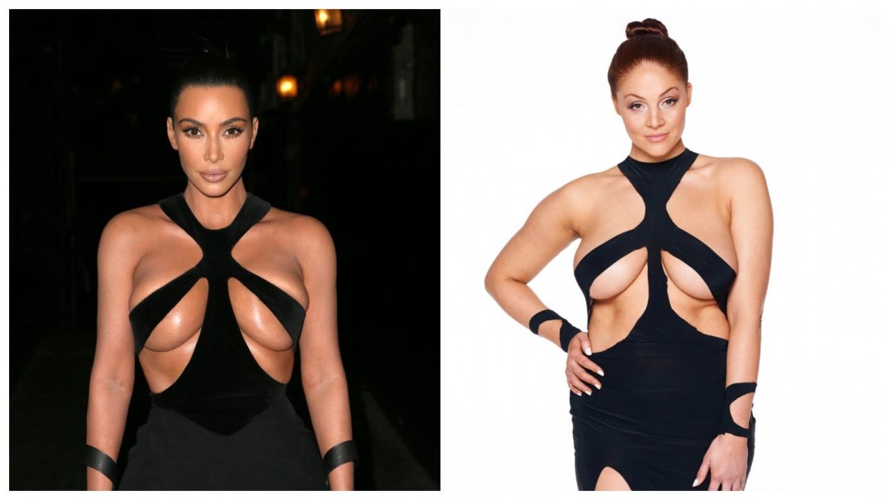 Оголенные нервы: женщина прогулялась по улицам Лондона в платье, как у Ким Кардашьян