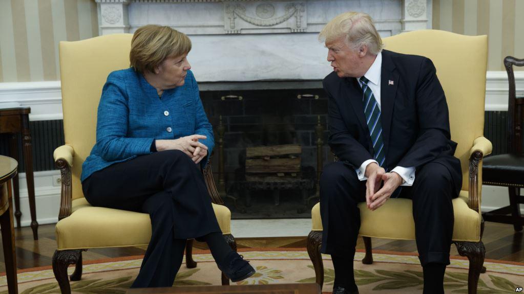 Почему Трамп не пожал руку Меркель в Белом Доме?