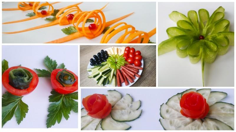 Украшения из овощей на праздничный стол