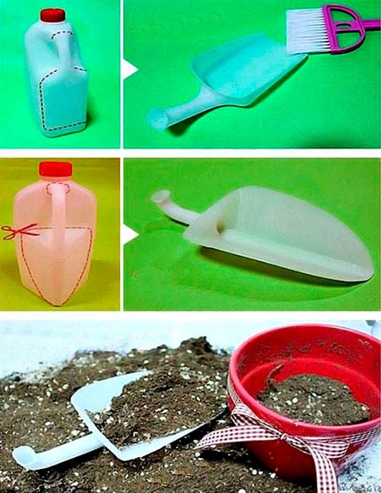 Лопата из пластиковых бутылок