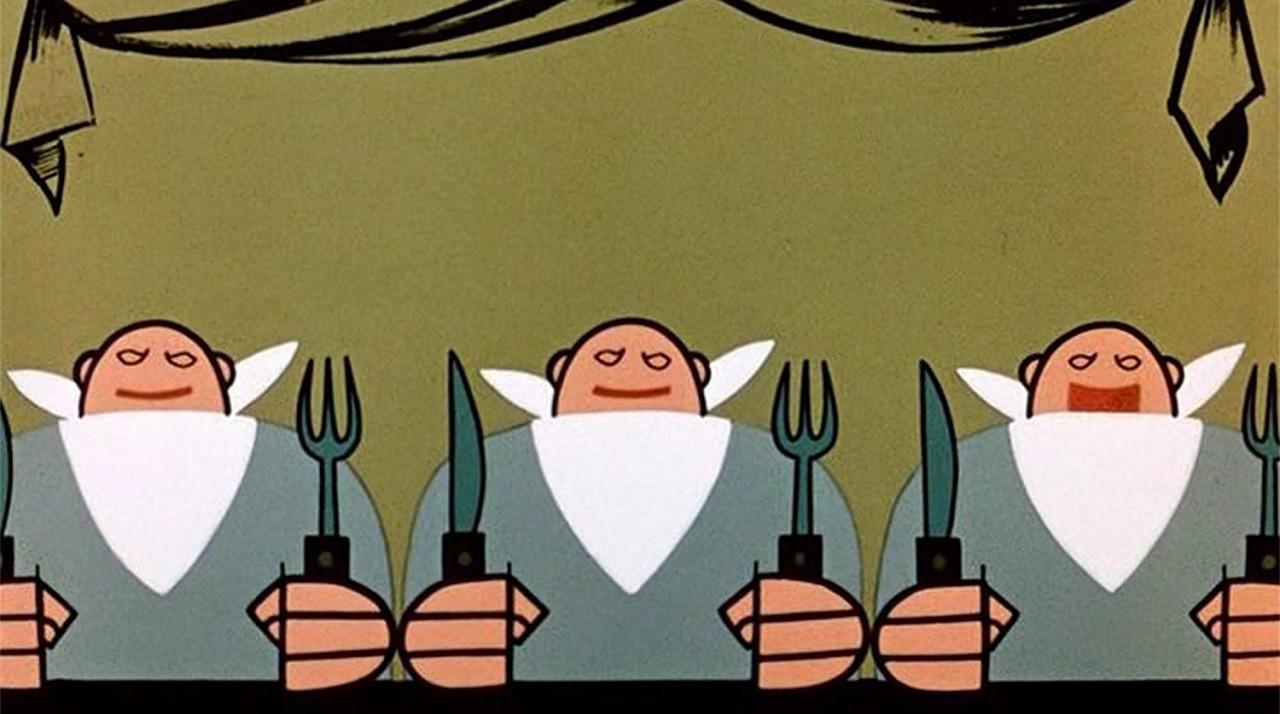 Рисунок три толстяка для детей