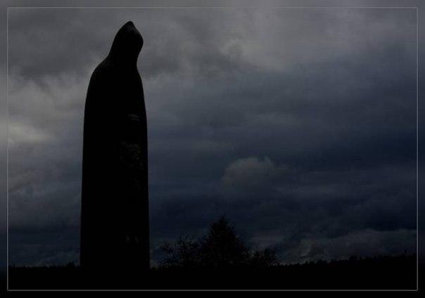 Призрак черного монаха в деревне Ельня