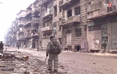 Российские саперы разминировали железную дорогу под Алеппо