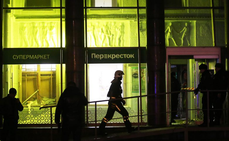В Санкт-Петербурге в магазине «Перекресток» прогремел взрыв