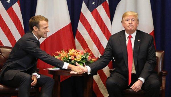 Трамп троллит Макрона: Париж…