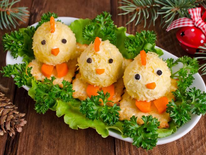 Блюда в виде петуха на Новый год