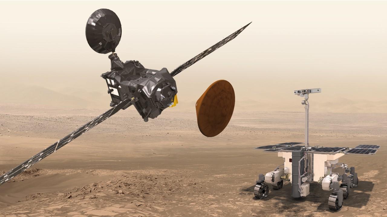 Миссия Exomars 2016: модуль Скиапарелли приземляется на Марс