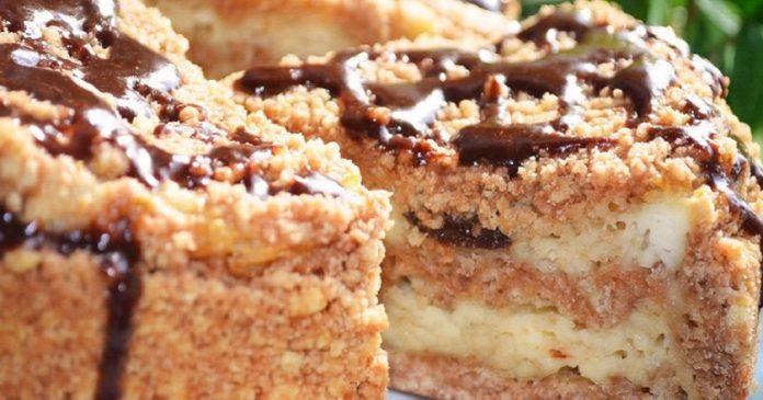 Великолепный пирог с творогом и черносливом. Идеальный десерт!
