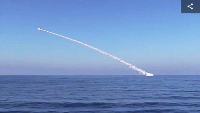 """Российские корабли атаковали """"Калибрами"""" объекты ИГ* в районе Пальмиры(ВИДЕО)"""