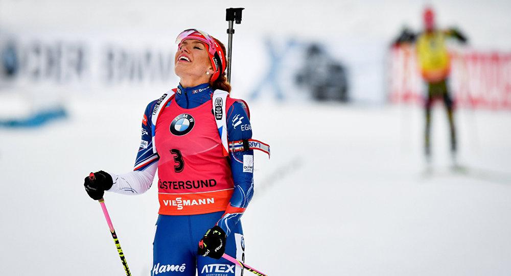 Чешская биатлонистка Коукало…
