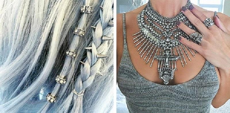 Модный цвет сезона осень-зима — 2016: обожаю металлик и серебристые украшения!