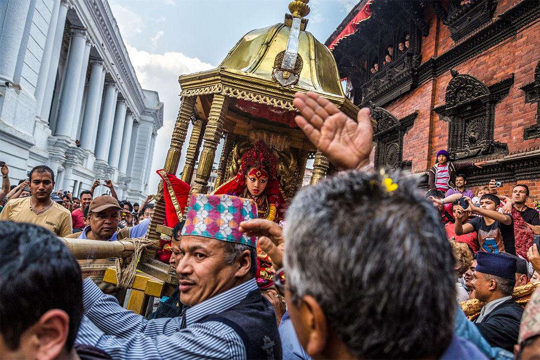 Кумари — живое божество в Непале