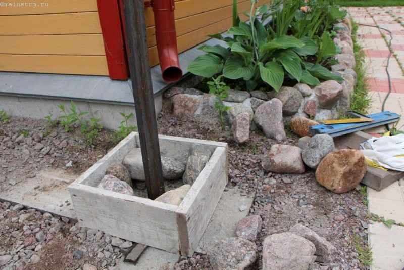 Как сделать столб забора из камня 823