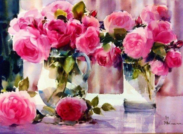 Вся роскошь и великолепие цветов в акварелях кисти художника Adisorn Pornsirikarn