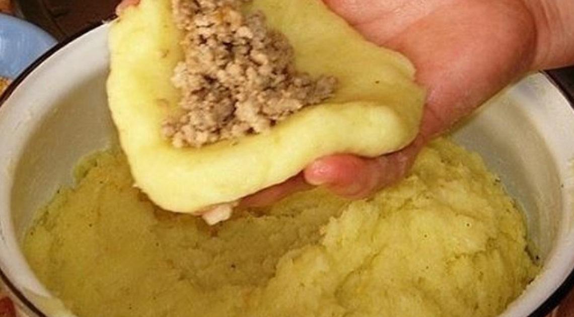 Мамины картофельные зразы .