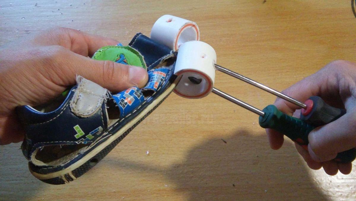 Как сделать струбцину прищепку из пластиковой трубы