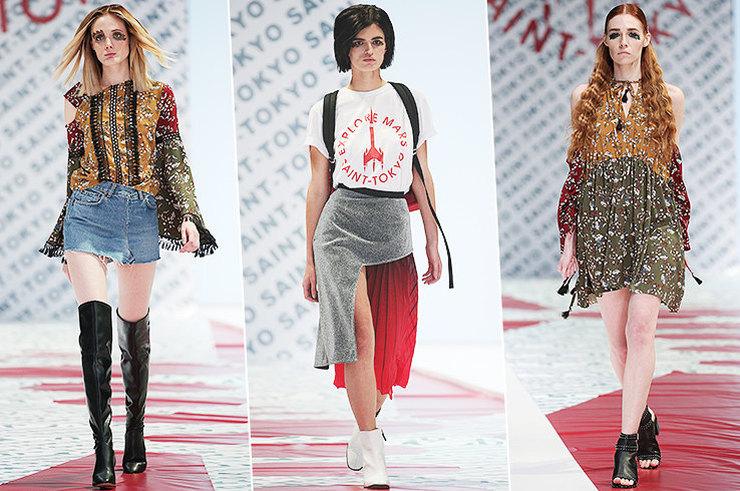 Несвятой Токио: «марсианские» девушки на показе Saint-Tokyo в Москве