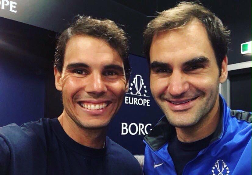 Надаль поздравил Федерера с …