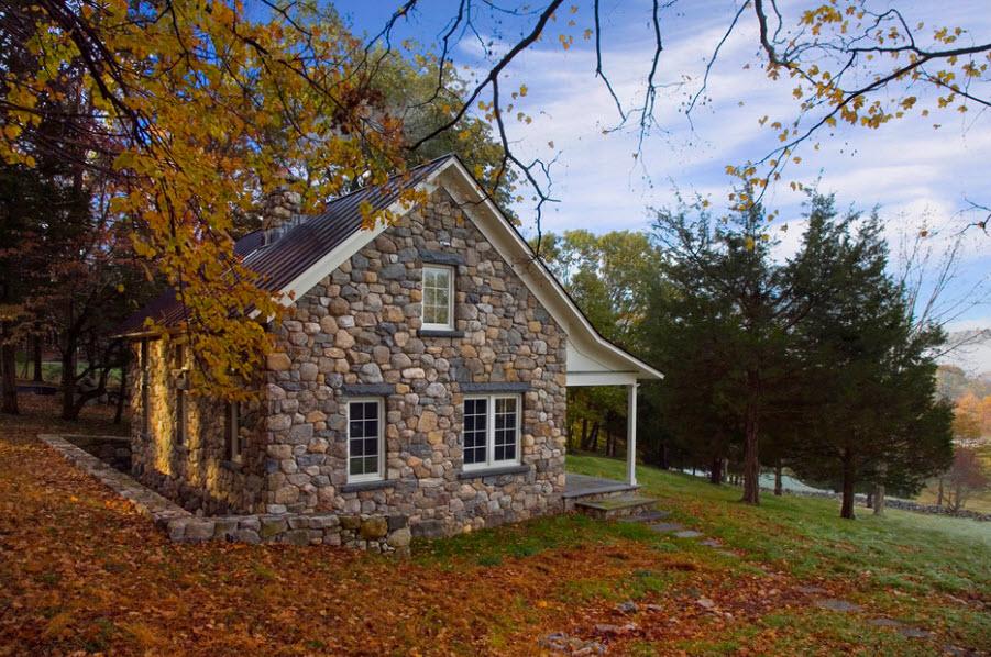 Облицовка дома камнем фото