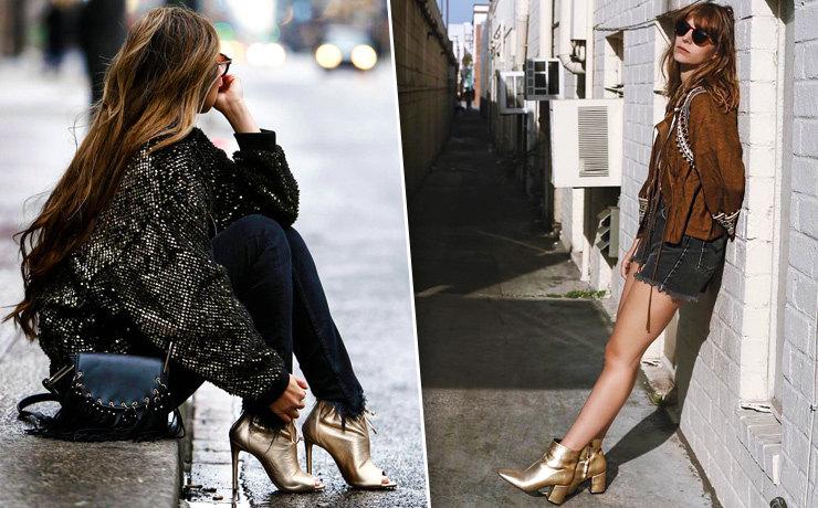 Не туфли, а золото: 15 Instagram-способов носить золотую обувь