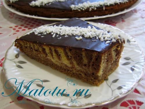 Торт зебра со сметанным кремом рецепты