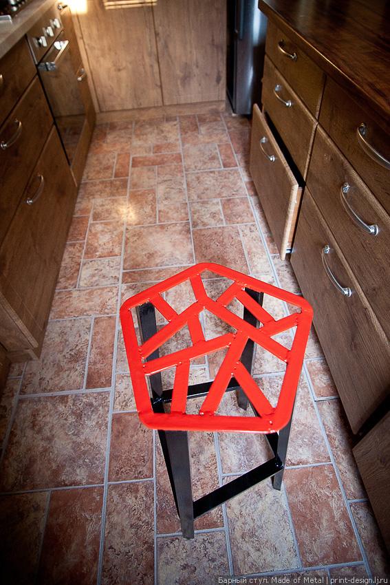 Металлический барный стул. С…